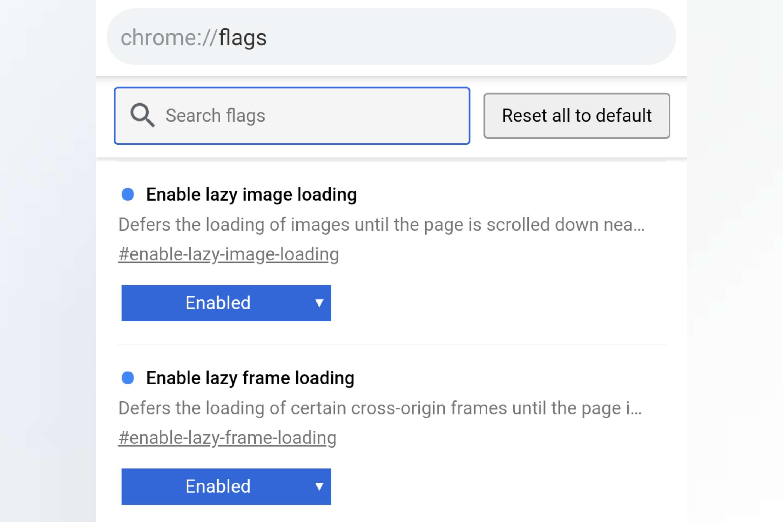 Chrome Lazy loading