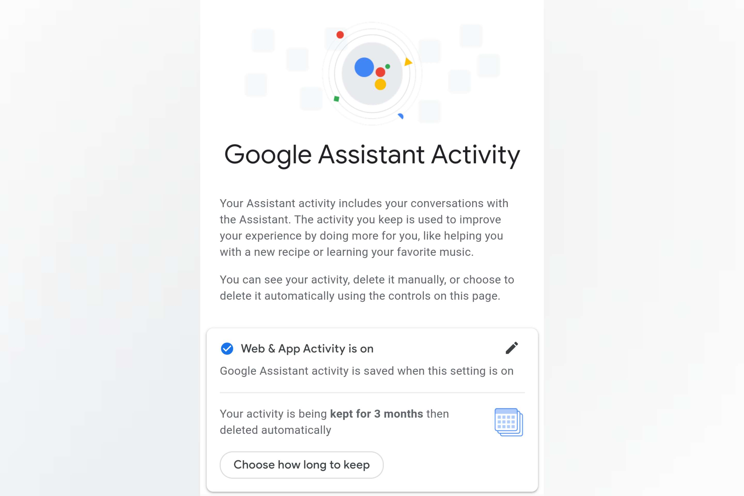 Google Voice & Audio Activity