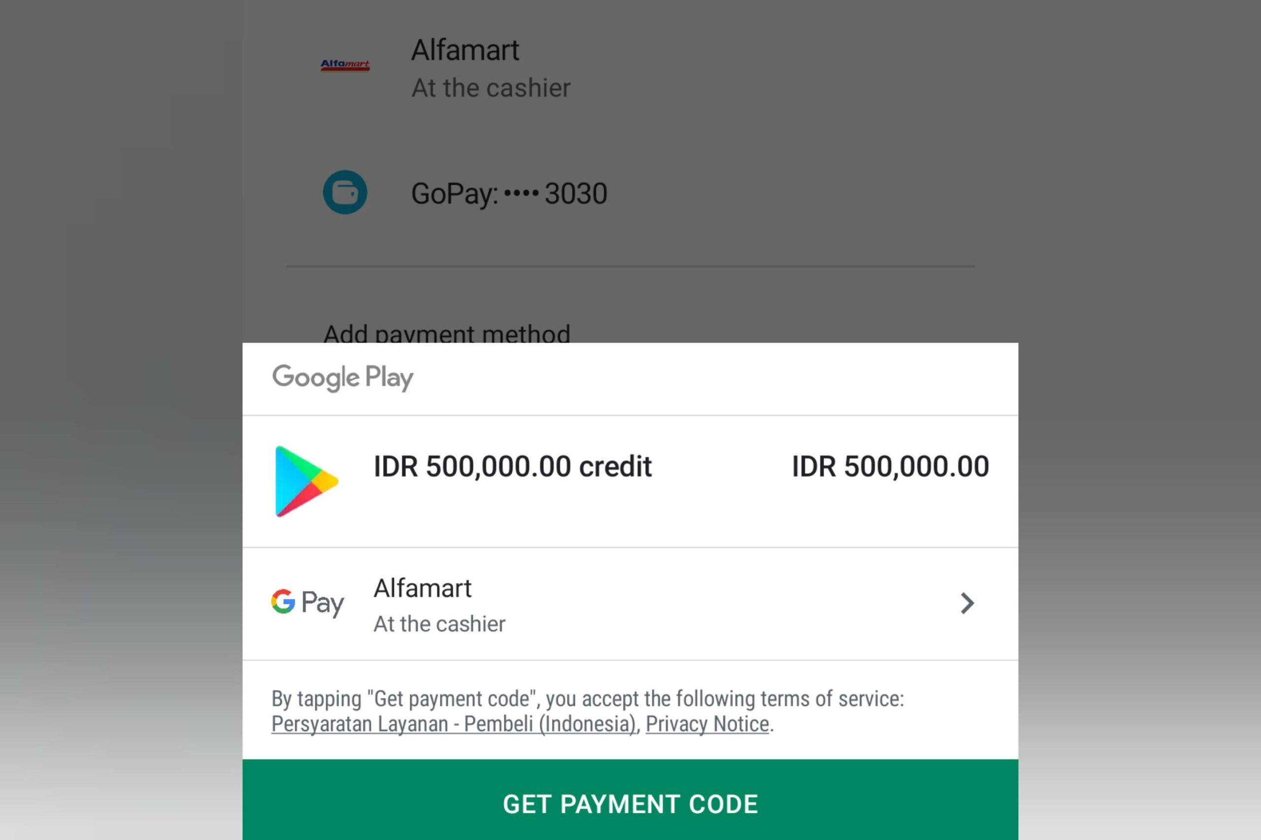 Google Play Store - Alfamart